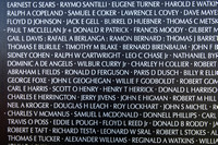 "Panel 03E which has the names of many of those depicted in ""We Were Soldiers""."
