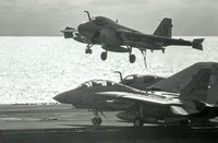 A-6 Intruder lands on Uss America
